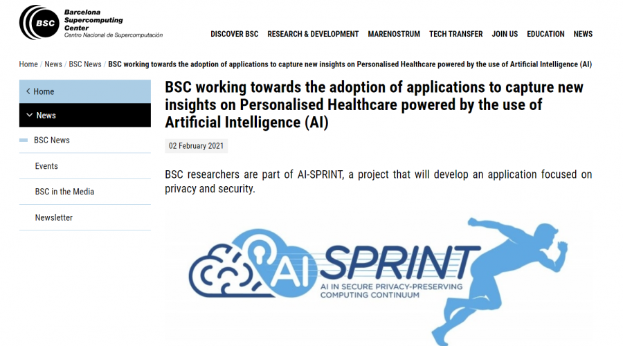 BSC works on Personalised Healthcare powered by the use of Artificial Intelligence (AI)