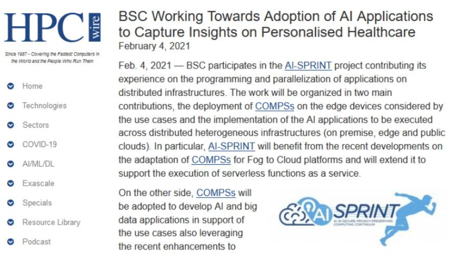 BSC Working Towards Adoption of AI Applications to Capture Insights on Personalised Healthcare